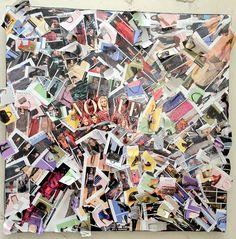 VOGUE : MODE, FASHION COLLAGE 80*80 CM + de photos sur www.konqui.com