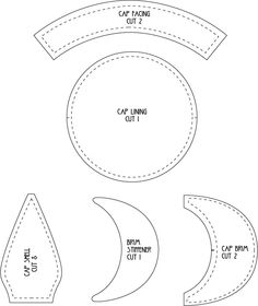 Here's the pattern for our eight panel flat cap shown in