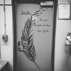 Secondary classroom decoration door decal English ELA writing