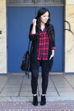 Styled this black cardigan in multiple ways on the blog :)