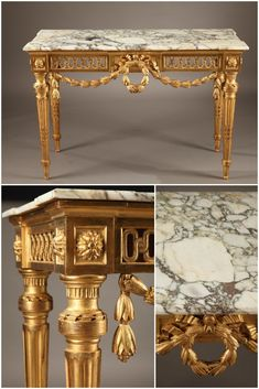 Louis Xvi Console In Gilt Wood Ca 1790 Dim 51 5