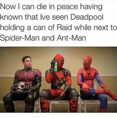 """Thank you. Thank you made my day #antman #spiderman #deadpool"""