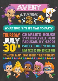 Bubble Guppies Birthday Invitation / Bubble Guppies by EmryPRINTS