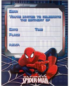 Ultimate Spiderman Birthday Invitations Empty Template Free Printable Templates Invitation