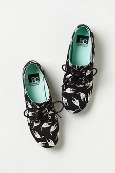 Feline Oxfords      #anthropologie-- so silly!! I have the heel version but these are sweet too!