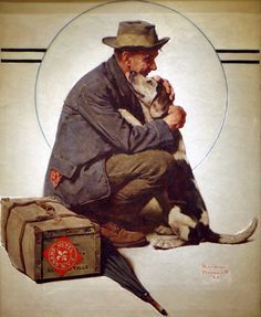 I do love the art of Norman Rockwell.  It always makes me feel warm and fuzzy, remember the past fondly, and adds a twist of loss as I long for times gone by.