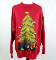 Tree Ugly Christmas Sweater  Men's Large or Extra by Trezchic, $35.00