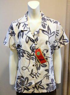 $19.95 Reyn Spooner Hawaiian Shirt Floral Reverse Print Nuskin Alfred Shaheen Med | eBay