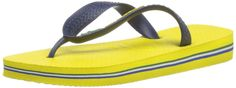Havaianas Women's Brazil Flip Flops * Discover this special outdoor gear, click the image : Jelly Sandals Jelly Shoes, Jelly Sandals, Flip Flop Sandals, Havaianas Mens, Womens Flip Flops, Outdoor Gear, Yellow, Blue, Peep Toe