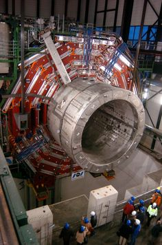 Part of CERN's Large Hadron Collider, used by physicists to test theories of particle physics. It helped prove the existence of the Higgs Boson particle. It lies 175 metres deep under the French-Swiss border.