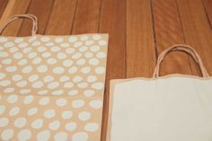 Paint your brown paper bags from shops to create Christmas/gift wrapping  bags - ilovelamp