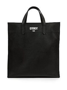 Givenchy Solid Leather Tote - Black - Size No Size