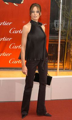 The tycoon's wife wore a chic shoulder-baring halter for a 2003 event at the Cartier Mansion in New York City.  Photo: Dimitrios Kambouris/WireImage