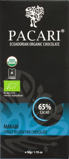 Pacari Manabí Bitterschokolade 65% Arriba