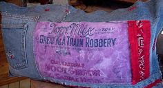 Western Cowboy Pillow Tom Mix K and A Train by ITSYOURCOUNTRY