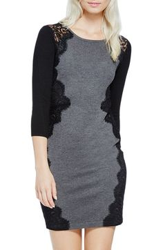 Free shipping and returns on Vince Camuto Lace Trim Sweater Dress (Regular & Petite) at Nordstrom.com.