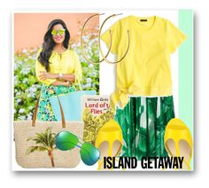 """#1329@"" by elena-gienko ❤ liked on Polyvore featuring St. John, Olympia Le-Tan, Dolce&Gabbana, J.Crew, Style & Co., Yves Saint Laurent, Dyrberg/Kern and islandgetaway"