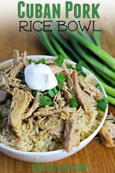 Are you looking for an easy pork recipe? Try out my Cuban Pork Rice Bowl recipe, perfect for a freezer meal, or throw right in your slow cooker!