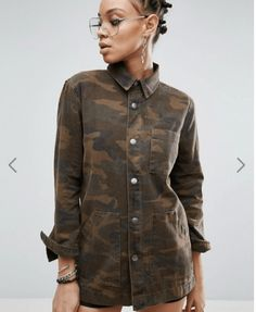 Discover ASOS latest Spring collection of coats and jackets for women. Shop today from our range of denim jackets, trench coats, rain jackets, bomber jackets and more. Asos, Camouflage Jacket, Lightweight Jacket, Jeans, Work Wear, Fashion Online, Jackets For Women, Men Casual, Shirt Dress