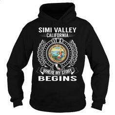Simi Valley, California Its Where My Story Begins - #fleece hoodie #geek t…