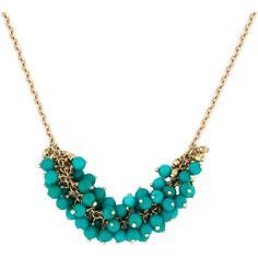 Pre-owned Mizuki Turquoise Bead Necklace ($395) ❤ liked on Polyvore featuring jewelry, necklaces, blue, turquoise stone necklace, 14 karat gold jewelry, pre owned jewelry, blue jewelry and 14k jewelry