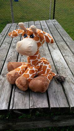 Plush Giraffe Heating Pad Georgia MADE TO by WarmFuzziesByGen