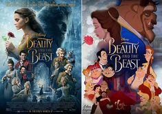 Beauty and the beast now and then