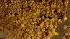 Seasoned hominy kernels are baked until dry and crisp in this addictive snack. Vegan Snacks, Healthy Snacks, Vegan Recipes, Snack Recipes, Side Recipes, Indian Food Recipes, Hominy Corn, Hominy Recipes, Fruits And Veggies