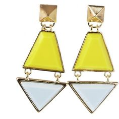 Lime Blue Geometric Drop Earrings Sale (6.585 COP) ❤ liked on Polyvore featuring jewelry, earrings, joias, blue earrings, earring jewelry, drop earrings, blue drop earrings and geometric jewelry