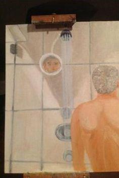 Overanalyzing George W. Bush's Shower Self-Portrait - Daily Intelligencer