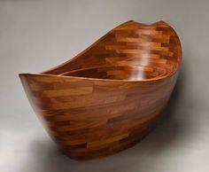 sapele wood tub seth rolland salish sea 1 Wooden Bathtubs for Modern Interior Design and Luxury Bathrooms