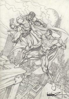 Superman versus Bizarro by José Luis García-López