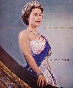Queen Elizabeth, painting by Bernard Safran.