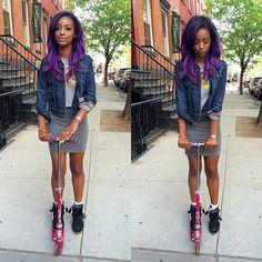 Justine Skye Purple Hair