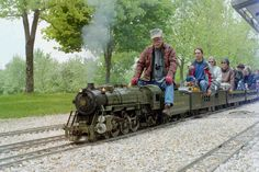 CALS Miniature Train Rides - train buffs builds, maintains, and operates mostly coal burning live miniature steam locomotives. Offer free train rides on the second Sunday of each month 11-3:30. Near Baltimore.