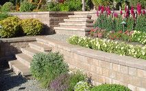 Pisa2® / RomanPisa® Retaining Wall- Pisa2® offers a classic large quarried stone appearance that makes it ideal to address grade changes and multi-layered retaining wall applications, while also being easy enough to work with for backyard garden projects.  RomanPisa® offers the same design opportunities but with a Roman textured finish.