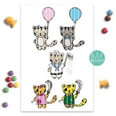 "Plotterfile ""Tigerkatzenfreunde enjoy the summer"" Tiger, Peanuts Comics, Art, Friends, Cats, Summer, Appliques, Art Background, Kunst"