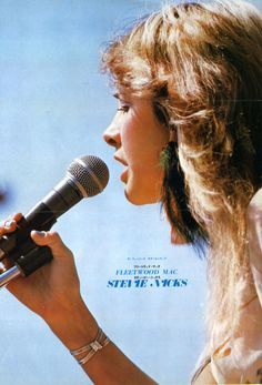 Stevie Nicks on a 1970s Japanese poster for Fleetwood Mac.
