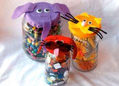 Animal Jars Craft for Kids - Recycled Animals Jars Earth Day Kids' Craft - Kaboose.com