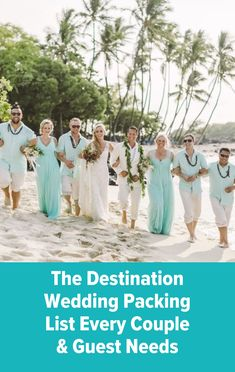 Grab your suitcase and use this destination wedding packing list to cross off everything you'll need to bring. What To Pack, Destination Weddings, Big Day, Suitcase, Packing, Place Card Holders, Couples, Bag Packaging, Couple
