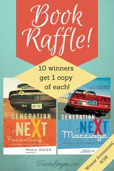 Author Tricia Goyer is doing a book giveaway for 20 copies of her Generation NeXt series! Enter the raffle here to win!
