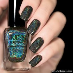 Last Doubt is a black holographic polish. This polish can be worn alone in 2-3 coats! *Photos shown here are 2 coats with 1 coat of glossy top coat...
