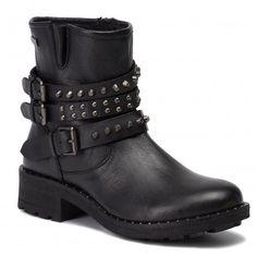Botki LES TROPEZIENNES - Laury 17047 Black - Botki - Kozaki i inne - Damskie   eobuwie.pl Biker, Metal, Boots, Fashion, Crotch Boots, Moda, Heeled Boots, Metals, Shoe Boot