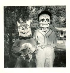 Mischievous devil and a well-dressed skeleton-1960s...