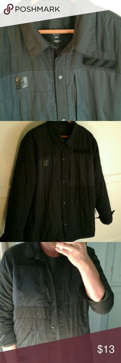 !FINAL PRICE! Adidas Shirt Jacket Really cool shirt jacket.  Poly filled for just the right amount of wArmth.  Bought when they released urban collection.   Snap front.  Small hole in lining.  Located in the back inside of jacket.  NOT VISIBLE.  GREAT closet staple.   It's a roomie XL. *****Liquidating. Prices are low because I want to move these items quickly as I want a fresh page for the boutique I am planning. Will not accept offers on FINAL PRICE! items. Additional 20% savings can…