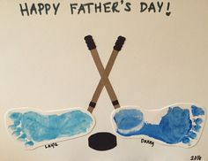 Father's Day hockey craft for kids. Perfect homemade card!