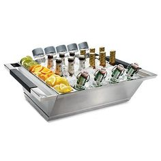 The Glacier Double Wall Beverage Server keeps all your refreshments ice cold during all your summer parties.