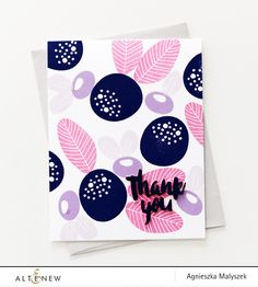 Altenew Simple Flowers Thank You card by Aga