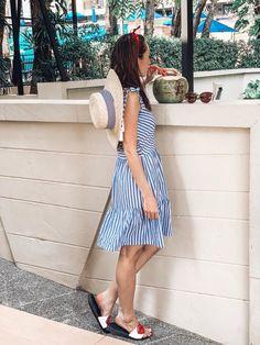 Chill Stripes Dress Material: Cotton,PolyesterPattern Type: StripedDecoration: TasselSleeve Style: Spaghetti StrapNeckline: V-NeckModel Number: Boho Life, Baby Pillows, Slim Wallet, Cool Socks, Striped Dress, Chill, Overalls, Stripes, Rompers