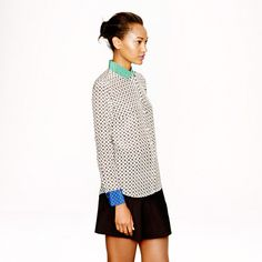 Colorblock silk foulard blouse - tops & blouses - Women's shirts & tops - J.Crew